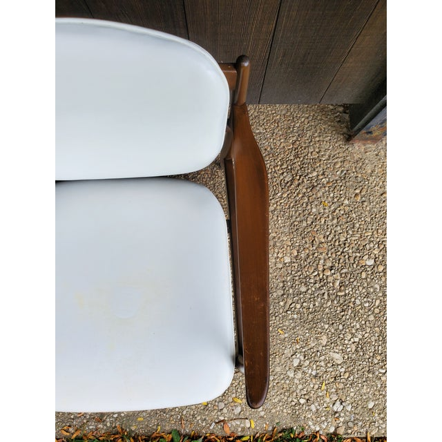 Mid 20th Century Danish Modern Style White Settee For Sale - Image 12 of 13