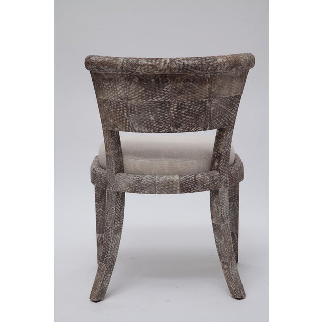 Pair of Fishskin Covered Chairs - Image 4 of 10