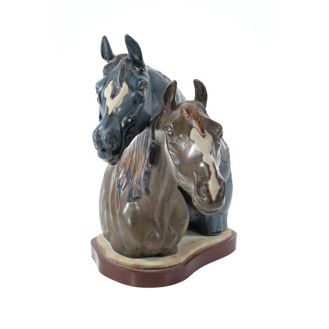 "Jose Roig Porcelain ""Horse Heads"" - Image 8 of 9"