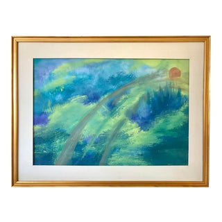 Vintage Mid Century Abstract Painting For Sale