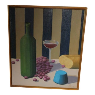 """Jon Lang """"Fruit of the Wine"""" Original Acrylic on Canvas Painting For Sale"""