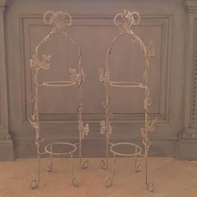 White Two-Tier Pastry Display Racks - A Pair - Image 4 of 7