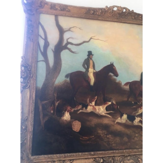 Folk Art English Hunt Scene Painting For Sale - Image 3 of 6