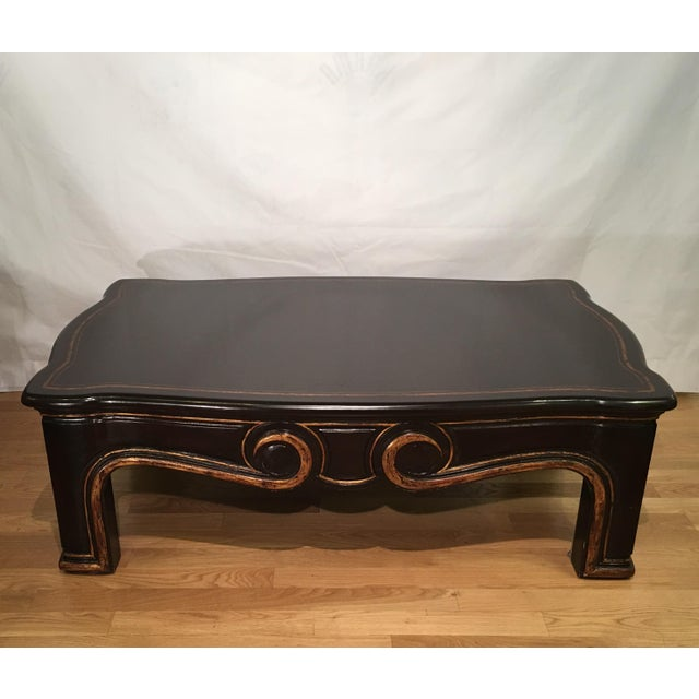 "This wonderful table is a genuine hand carved original by Gregorius Pineo. It is called the ""Morrison Table"" in black..."