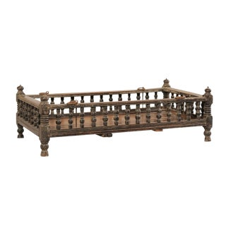 British Colonial Wooden Pet Bed / Bassinet From the Mid-20th Century For Sale