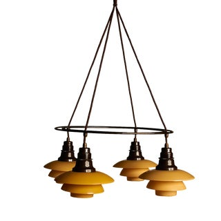 Poul Henningsen Double Ring Chandelier For Sale