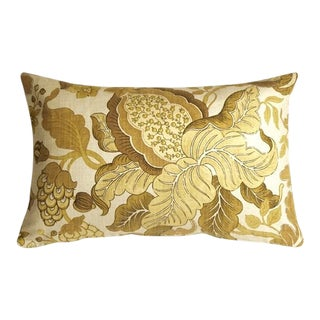 Pillow Decor Harvest Floral Yellow 16x24 Pillow For Sale