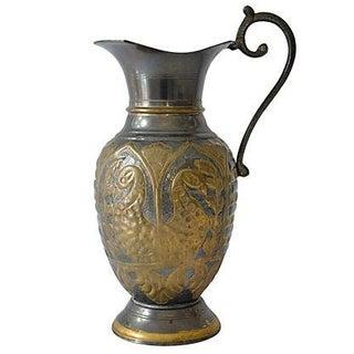 Vintage Exotic Brass Ewer For Sale