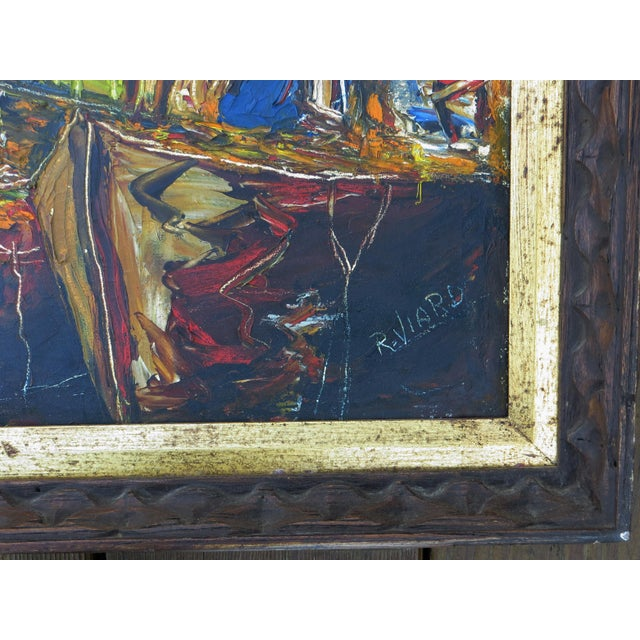 Raoul Viard Haitian Modernist Oil Painting For Sale - Image 4 of 7