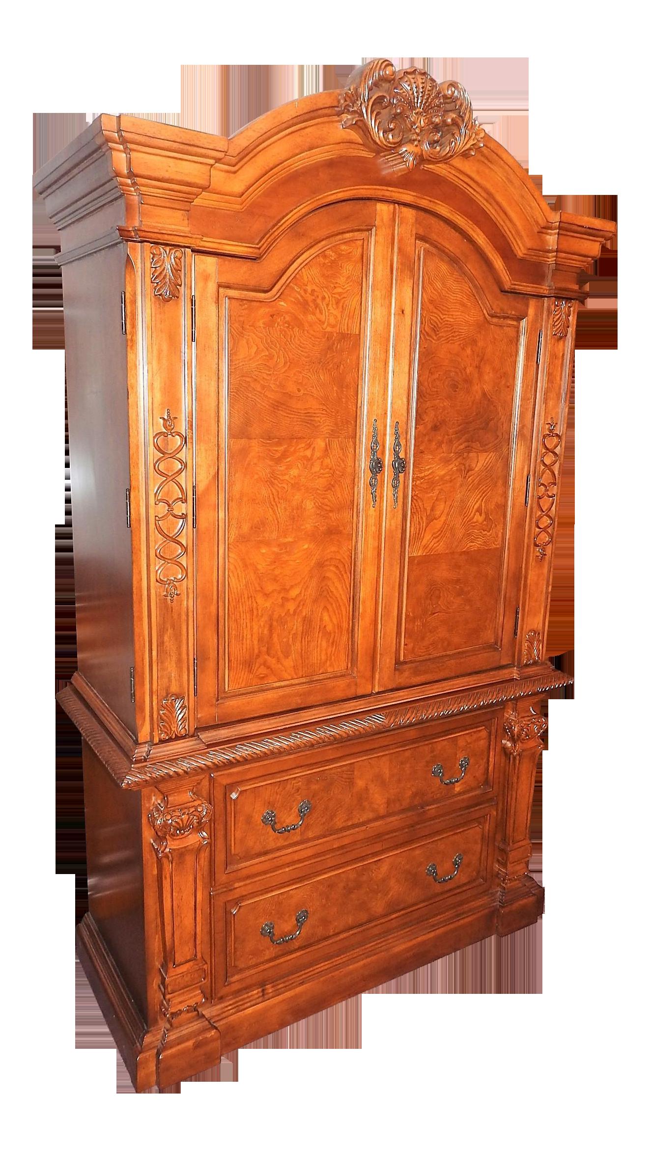 Luxury Cherry Tv Armoire Dresser Set