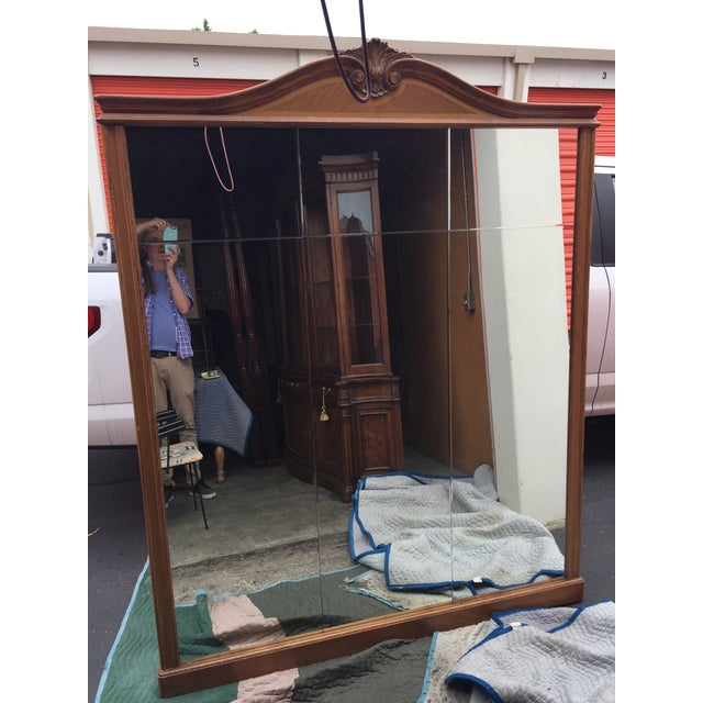 Brown Large Loius XVI French Pier Mirror For Sale - Image 8 of 13