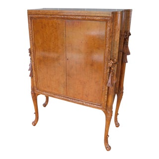 Edwardian Adams Style Vintage 2 Door Bar Cabinet For Sale