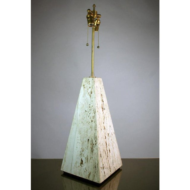 Italian Italian Mid-Century Modern Travertine Lamp For Sale - Image 3 of 5