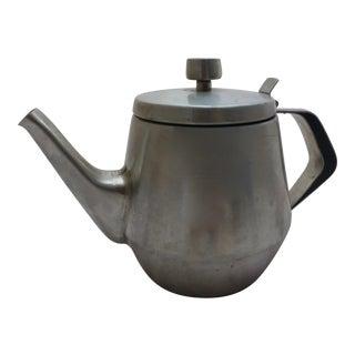 Swedish Mid-Century Stainless Steel Tea Pot