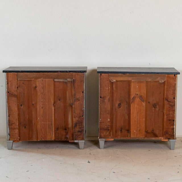 19th Century Antique Swedish Gustavian Nightstands-a Pair For Sale - Image 4 of 9