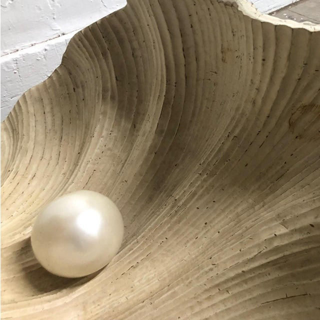 Clam Pearl Shell Wooden Coffee Table For Sale In New York - Image 6 of 8