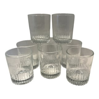 Etched Crown Royal Lowball Glasses - Set of 8 For Sale
