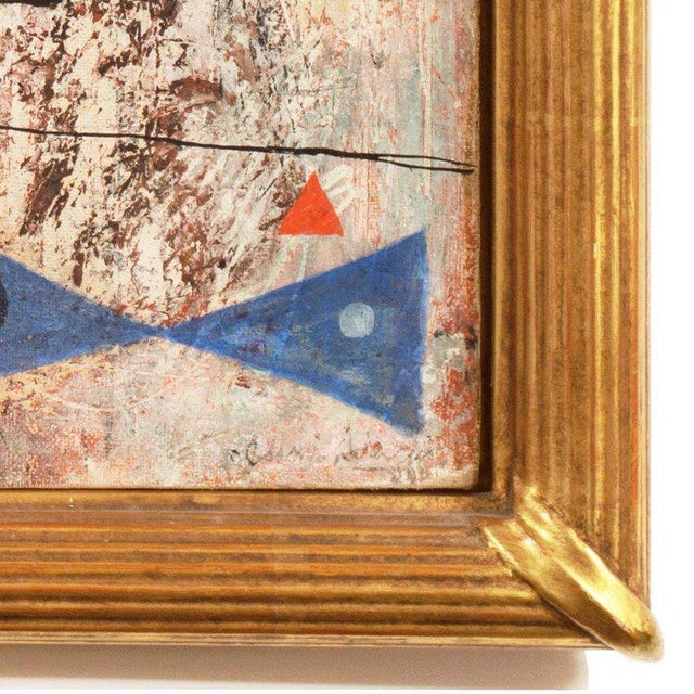 Abstract Isami Adachi Geometric Abstract 1950s For Sale - Image 3 of 11