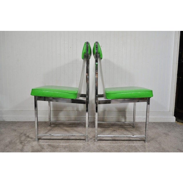 Vintage Mid Century Modern Chrome & Lucite Daystrom Dining Set 4 Chairs Table For Sale - Image 5 of 11