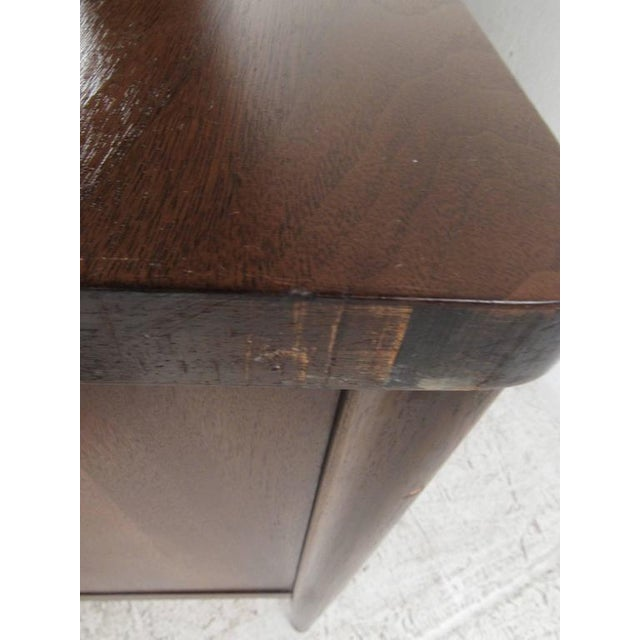 Vintage American Filing Drawer Walnut Desk For Sale - Image 10 of 10
