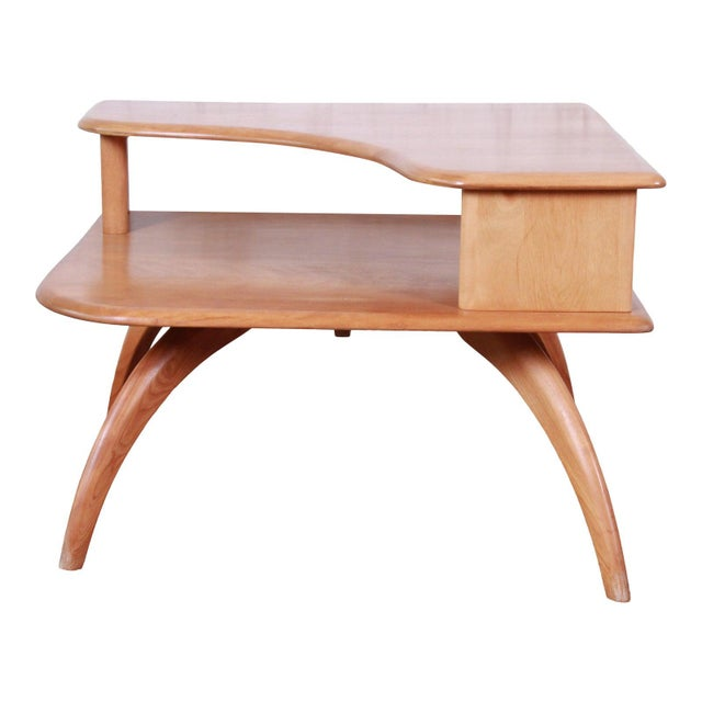 Heywood Wakefield Mid-Century Modern Solid Maple Corner End Table, 1950s For Sale - Image 11 of 11