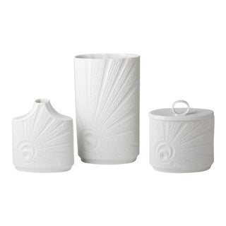 Mid-Century German Porcelain Vases - Set of 3 For Sale