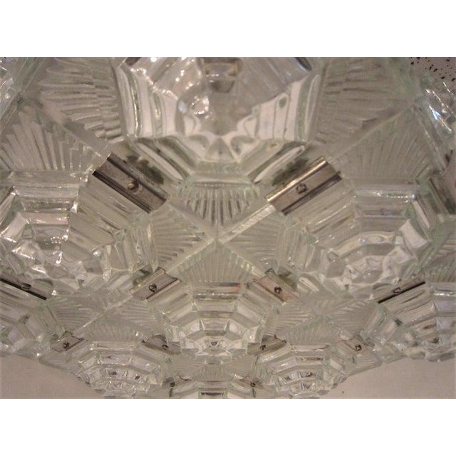 Art Deco Revival Flush Mount Glass Ceiling Squares - 2 Available For Sale - Image 11 of 13