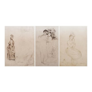 Renoir Large 1959 Lithograph Prints - Set of 3