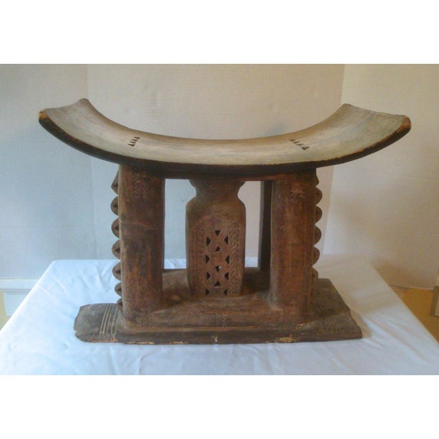 Antique African Carved Ashanti Asante Stool For Sale - Image 11 of 11