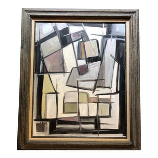 Original Stewart Ross Abstract Modernist Painting