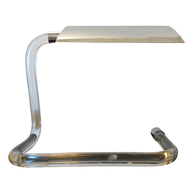 Peter Hamburger for Knoll Crylicord Lucite Lamp For Sale