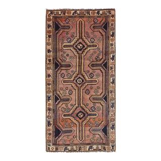 Kasra Semi Antique Persian Qashqai Rug - 4′ × 8′3″