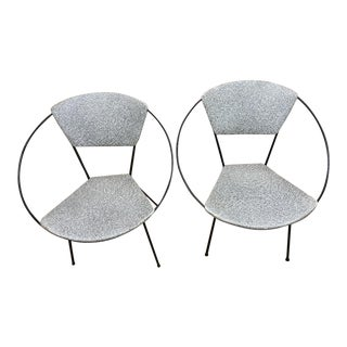 1950s Vintage Cicchelli Hoop Reilly Wolf Circle Chairs - A Pair For Sale