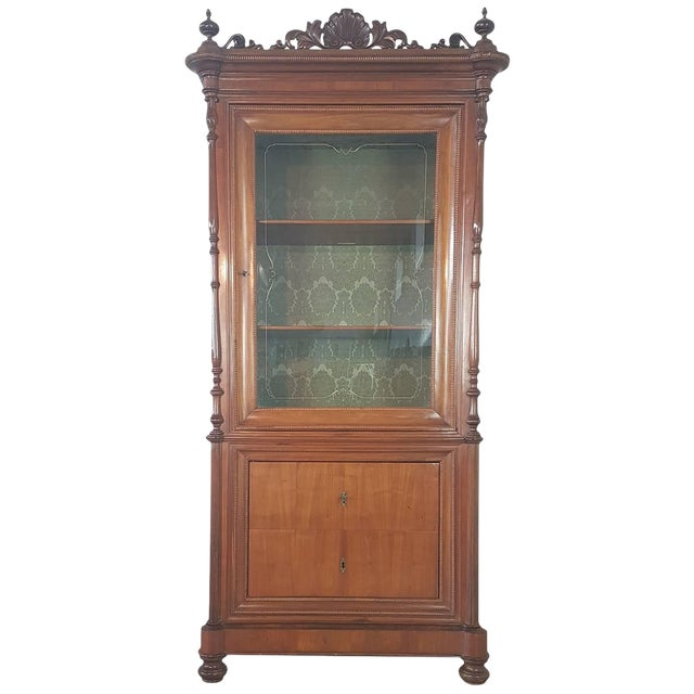 19th Century Italian Charles X Cherry Wood Cabinet For Sale