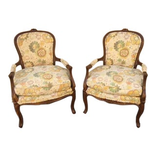 French Provincial Occasional Chairs - A Pair