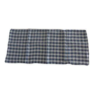 Antique French Linen Kelsch Bolster Pillow For Sale