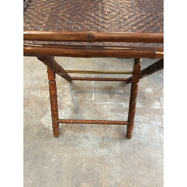 Bamboo Ralph Lauren Folding Table For Sale - Image 7 of 9