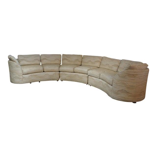 Hekman-Dansen Contemporary Deco Sectional Sofa   Chairish