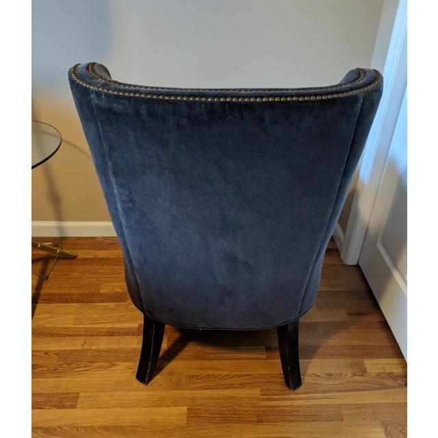 1990s Vintage Navy Blue Accent Chair Chairish