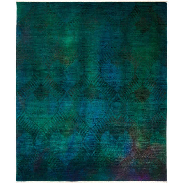 "Vibrance Hand Knotted Area Rug - 7' 10"" X 9' 6"" - Image 4 of 4"
