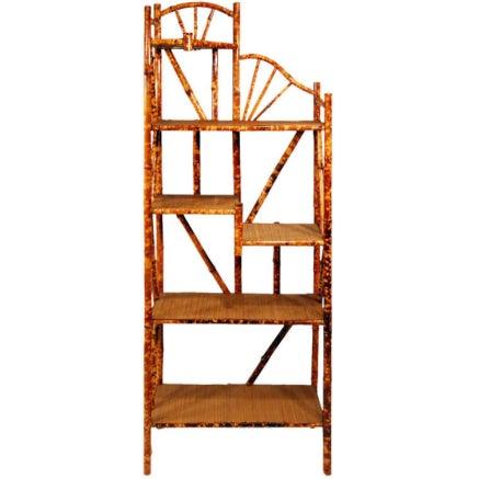 Tiger Bamboo Five-Tier Corner Shelf - Image 1 of 3