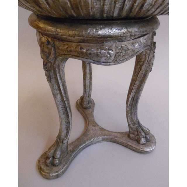 19th Century Italian Silver and Gold Gilt Cherrywood Grotto Seat For Sale - Image 4 of 8