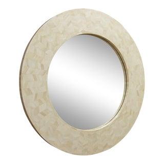 Karl Springer Style Bone Mirror For Sale