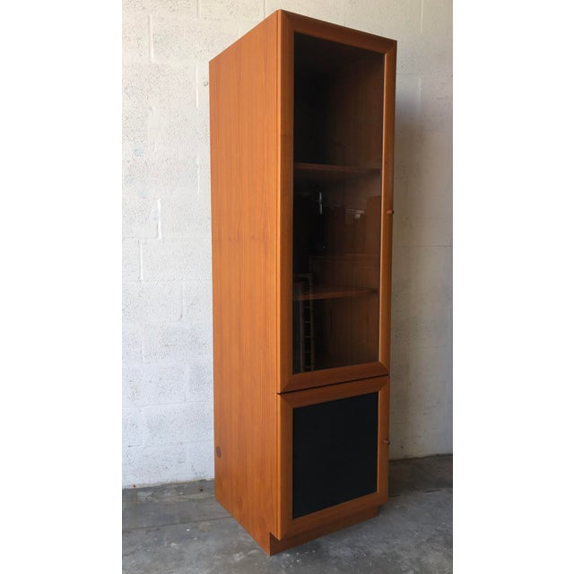 Mid-Century Modern Vintage Danish Modern Style Curio China Display Cabinet. For Sale - Image 3 of 13