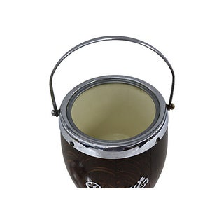 Vintage English Oak & Chrome Biscuit Bucket Preview