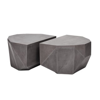 Geod Coffee Table in Dark Gray For Sale