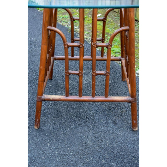 20th Century Chinoiserie Bamboo Base Dining Table For Sale - Image 9 of 10