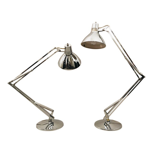 Pair of Luxo Norway Lamps For Sale