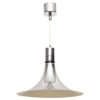 1950s Franco Albini Chromed Steel Suspension Light For Sale