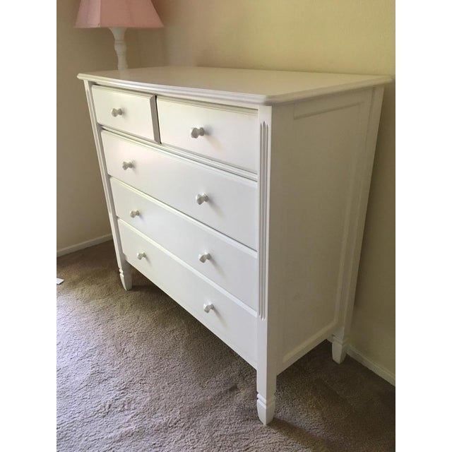 Pottery Barn Pottery Barn Kids Contemporary White 'Madeline' Dresser For Sale - Image 4 of 6
